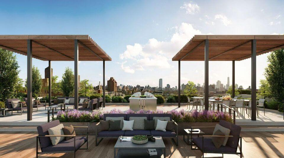The seventh-story deck atop Extell Development's new EVGB is a whopping 19,000 square feet.